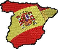 Magnifique drapeau Espagnol Onesies, Embroidery, Tour, Kids, Baby, Europe, Clothes, Illustration, Photos
