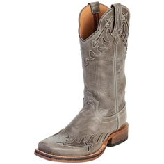 Women's Twisted X Grey Red River Wingtip Cowgirl Boots