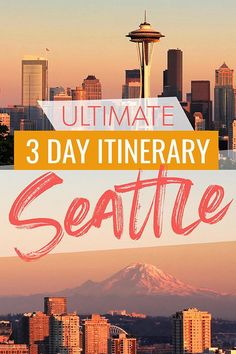 How to spend three perfect days in Seattle - This 3 day Seattle Itinerary will give you a road map for what to see, what to eat and what to do in Seattle on a long weekend including highlights like the Space Needle and the Aquarium, side trips like Snoqualmie Falls and Mount Rainier, and delicious seafood and restaurants plus ideas for where to stay in Seattle! #Seattle #Washington #Travel #USATravel #USTravel #Itinerary