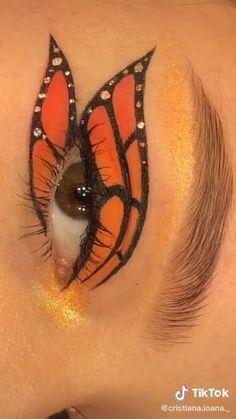 Edgy Makeup, Makeup Eye Looks, Eye Makeup Art, Crazy Makeup, Skin Makeup, Eyeshadow Makeup, Sweet Makeup, Indie Makeup, Eye Art