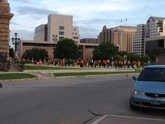 People lining up to testify in Austin at 7:15 am