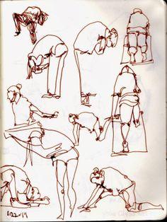 Urban Sketchers: Affirmations Yoga Class, San Diego, CA