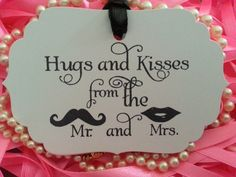 50 WEDDING TAGS Hugs and Kisses From the Mr by LOVESWEETLOVEWISHES, $19.00