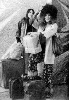 Janis and Linda Gravenites, Galeao Airport, Rio de Janeiro
