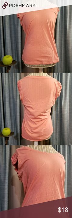 🌻🌺🌻NEW YORK & COMPANY CROCHET SLEEVES SHIRT!! SIZE:medium   BRAND:New York & Company   CONDITION:very good, no flaws    COLOR:peachy  Very pretty crocheted sleeves.   🌟POSH AMBASSADOR, BUY WITH CONFIDENCE!   🌟CHECK OUT MY OTHER ITEMS TO BUNDLE AND SAVE ON SHIPPING!   🌟OFFERS WELCOME!   🌟FAST SHIPPING! New York & Company Tops