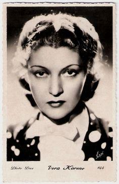 Vera Korene. French postcard by Erpé, no. 644. Photo: Piaz.