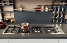 Poliform Kitchen, Varenna Grey inside cupboards Colours - Elm (wood finish) not as shown Grey 60 Ghiaccio