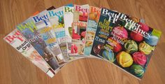 2015 Lot of 9 Better Homes and Gardens Magazines Back Issues #M01