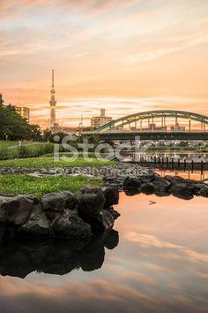 Edit Image Tokyo Skytree with green bridge - iStock
