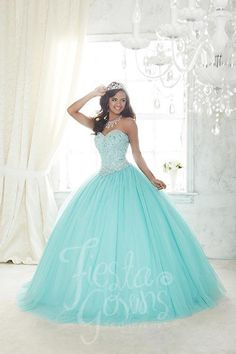 Ocean color quinceanera dresses