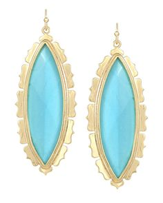 Joelle Drop Earrings in Turquoise - Kendra Scott Island Escape preview, in stores and online April 24, 2013 at 5pm CST.