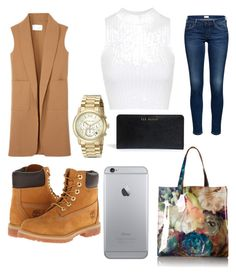 """Untitled #5"" by rabiahk ❤ liked on Polyvore featuring moda, Alexander Wang, Timberland, Topshop, Michael Kors y Ted Baker"