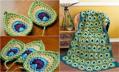 http://www.pretty-things.net/2016/07/25/make-crocheted-peacock-feather-blanket-free-video-tutorial/