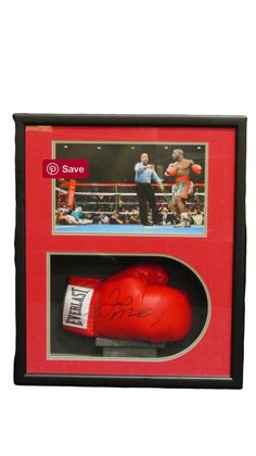 Floyd Mayweather Jr. Autographed Boxing Glove in a Black Shadowbox Display Case with JSA certification