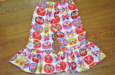 SALE Little Lady's Cozy ruffled lounge pants 6m6 by averymacroo, $15.00