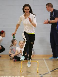Tennis on the Road welcomed The Duchess of Cambridge to Craigmount High School, Edinburgh, to experience the program started by Judy Murray which aims to give parents, coaches, teachers and volunteers the tools needed to get kids active and to help further kick-start and develop tennis in Scotland. 2-24-16.  Andrew Milligan/WPA Rota/Nunn Syndication/Polaris