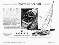 1963 Rolex Submariner ad