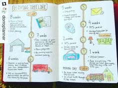 Moving in the next year? Check out this moving timeline for your bullet journal.