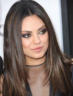Herfstmake-up: De smokey eyes van Mila Kunis - Beauty - Smokey eyes - Style Today