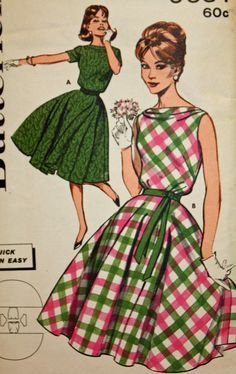 Vintage 1960s Sewing Pattern Butterick 9651 Misses'