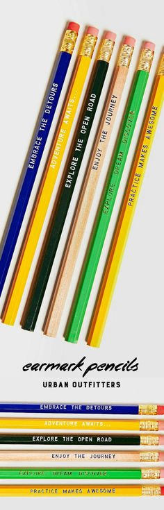 Stop by and get a pack of our pencils on Urban Outfitters! :)