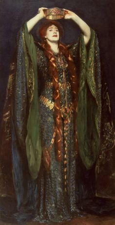 """Ellen Terry as Lady Macbeth"" (1889) - exhibited by American artist John Singer Sargent at the 1893 World's Columbian Exposition in Chicago."