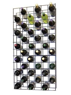 Wine Cellar Innovations 78 Bottle Black Metal Lattice Wine Rack