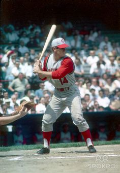 Cincinnati Reds first baseman Pete Rose in action during the 1965 season.