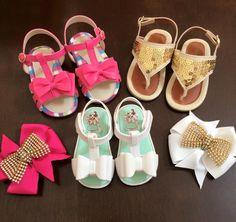 Sandálias para os pezinhos das princesas? A Pureza Baby têm!  Mamães, selecionamos modelos lindos para os pezinhos do 16 ao 19.  ✔️ Branca de lacinho; ✔️Sandália Paetê; ✔️ Rosa de lacinho.
