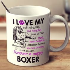 I Love my Boxer Dog - Mug