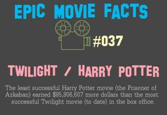 Harry Potter > Twilight. Also, how is PoA the least successful Potter film?  But seriously, this brings me joy.