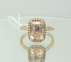 A 5 carat certified unheated Peach champagne by ReneJewelry