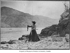 Abbie Denny fishing at Lake Chelan