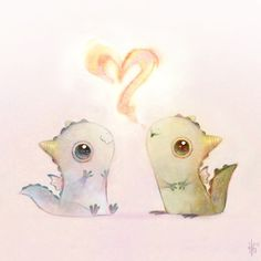 I Heart You! Prints and other fun stuff available on my society6 account @heathersketcheroos! ! #dragons