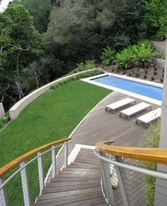 A round of crocket and a dip will be enough for me this morning.... after all  I'm climbing back up those stairs!    Grass Terraces - contemporary - landscape - san francisco - Shades Of Green Landscape Architecture