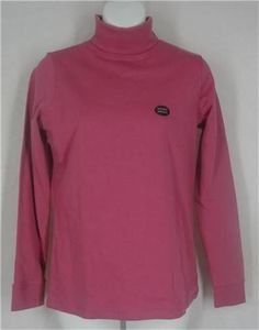 L.L. BEAN Top XS Rose Violet Long Sleeve Turtleneck Shirt Solid Cotton Pink $12.88 #LLBean #KnitTop