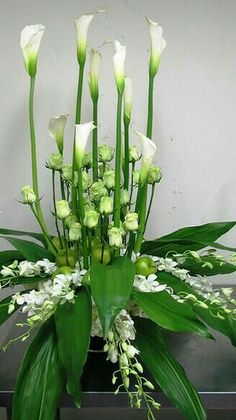 C, Event Gallery, Atlanta Contemporary Flower Arrangements, White Flower Arrangements, Flower Arrangement Designs, Funeral Flower Arrangements, Floral Centerpieces, Altar Flowers, Church Flowers, Funeral Flowers, Wedding Flowers