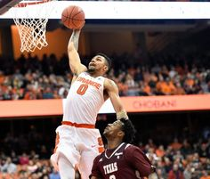 Syracuse University forward Michael Gbinije (0) goes in for a dunk in the second half of the Syracuse-Texas Southern game at the Carrier Dome, Dec. 27, 2015. Dennis Nett | dnett@syracuse.com