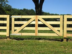 4-Rail Post and Rail Horse Gate