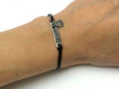 Personalized Women's Bracelet-Leather String Bracelet-Minimalist Leather Bracelet-Leather Bracelets-Womens Bracelet-Women Bracelets-Sigal