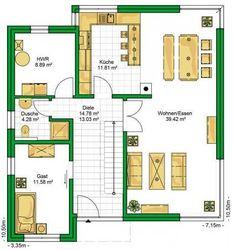 Plano de casa de dos plantas y 4 dormitorios ideas en for Casa minimalista 60m2