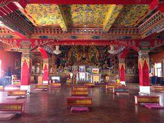 Gompa in Kopan Monastery Kathmandu