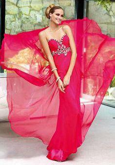 Sweetheart Floor Length Sheath/ Column Empire Chiffon Prom Dresses - Lunadress.co.uk