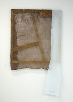 "workman:    michaelswaney:  Colleen Heslin, Untitled, 2012. thread and acrylic on jute, cotton and wood, 30"" x 52""follow Colleen here"