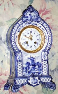 ♥ ~ ♥ Blue and White ♥ ~ ♥ Delft Antique Keys, Antique Clocks, Blue And White China, Blue China, Delft, Plywood Furniture, Eames, Clock Tattoo Design, White Clocks
