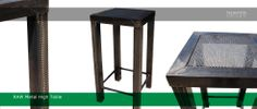 RAW metal industrial looking high table