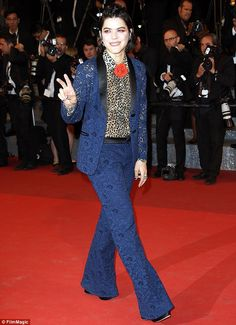 Going wild! Stephanie 'Soko' Sokolinski showed off her quirky style on the red carpet for the It's Only The End Of The World premiere on Thursday