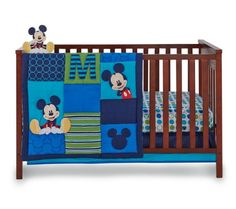 Baby Easton's bedding! Love Mickey, but I hated the reds, blacks, and whites.