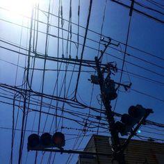 ビカッと快晴 おはようこさいますGood morning! #朝の空#空#電柱写真クラブ#イマソラ#sky#tokyo#japan#Instajapan by kotenosuke