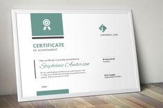 Certificate Design Template, Invoice Template, Free Design, My Design, Word Program, Modern Words, Certificate Of Achievement, Design Bundles, School Design